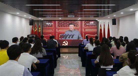 郑州高新区新联会集中收看庆祝中国共产党成立100周年大会直播