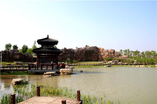 河南觅庭木结构参与商丘汉梁文化公园项目 再现三百里梁园美景
